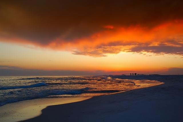 západ slunce na Floridě
