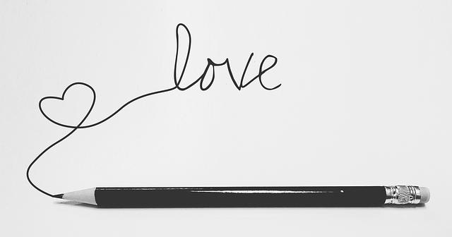 nápis láska