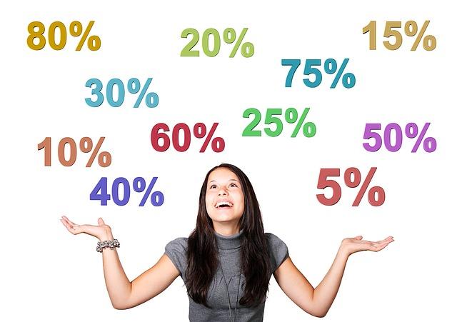 žena, procenta slev