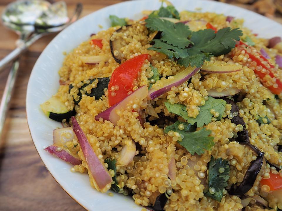 quinoa na talíři